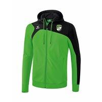 SV Motor Mickten Trainingsjacke m Kapuze grün/schwarz Kinder